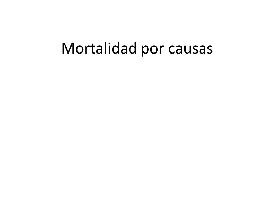 Mortalidad por causas