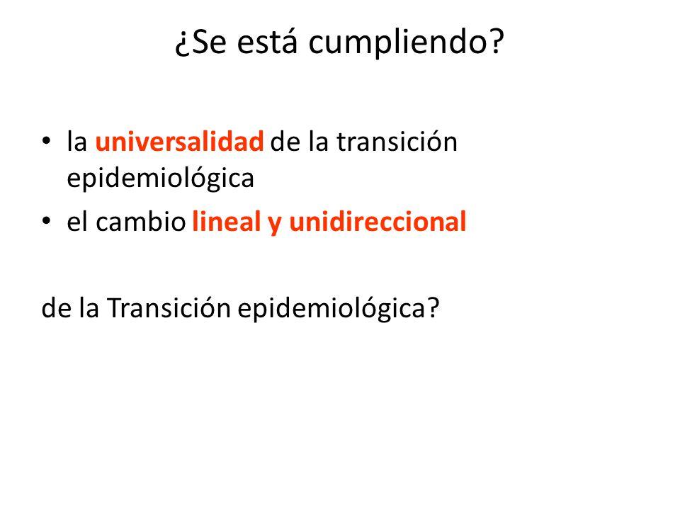 ¿Se está cumpliendo? la universalidad de la transición epidemiológica el cambio lineal y unidireccional de la Transición epidemiológica?