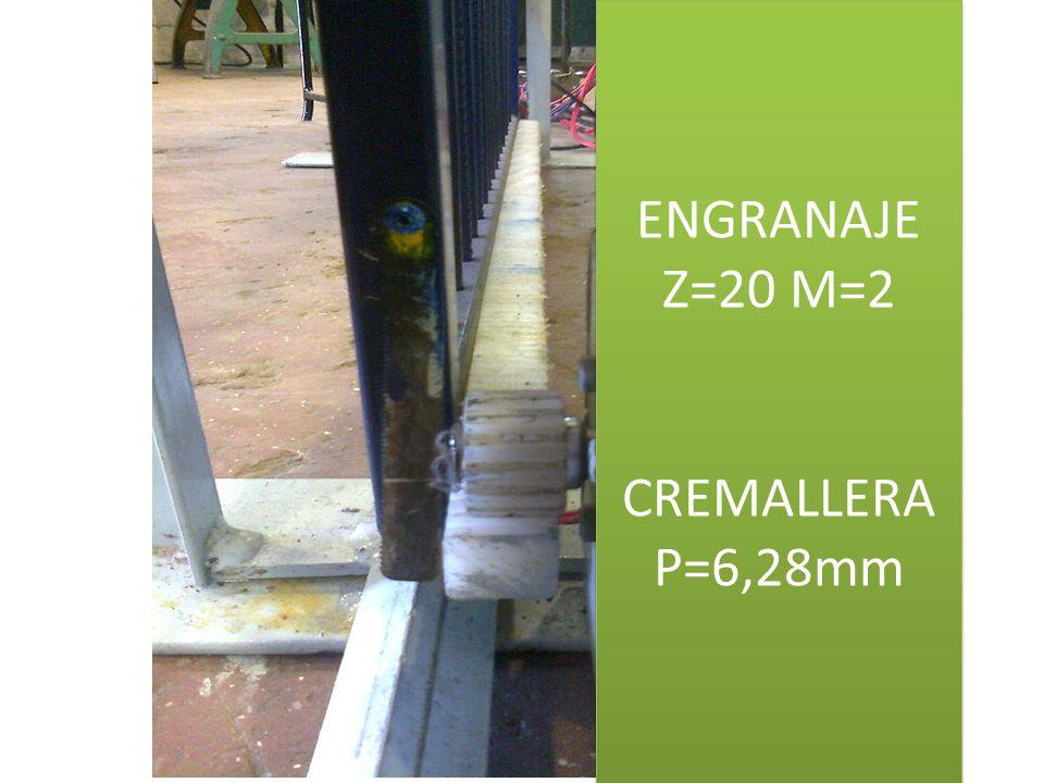 ENGRANAJE Z=20 M=2 CREMALLERA P=6,28mm