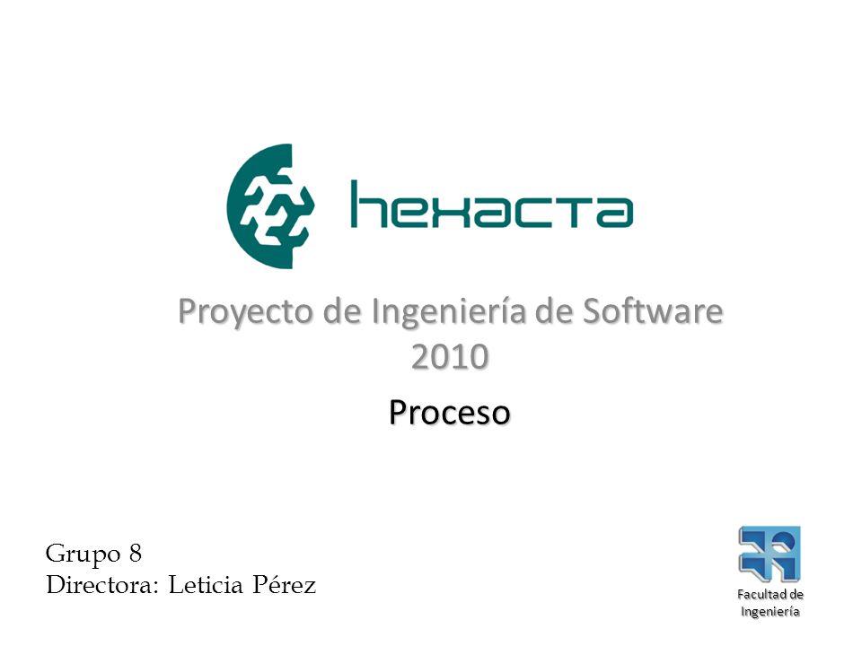 Proyecto de Ingeniería de Software 2010 Proceso Grupo 8 Directora: Leticia Pérez Facultad de Ingeniería