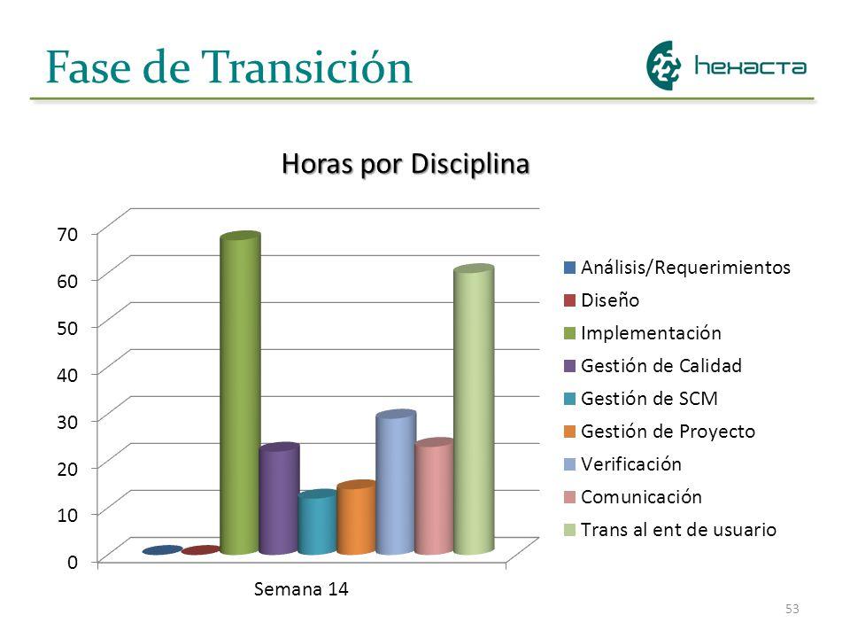 53 Fase de Transición Horas por Disciplina