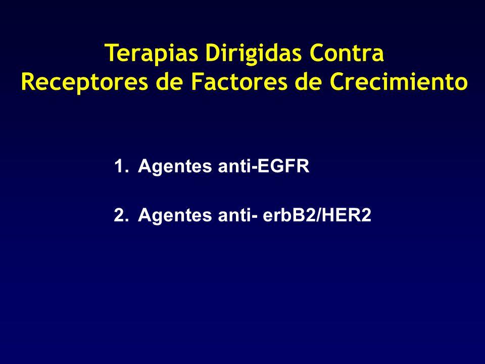 Terapias Dirigidas Contra Receptores de Factores de Crecimiento 1.Agentes anti-EGFR 2.Agentes anti- erbB2/HER2