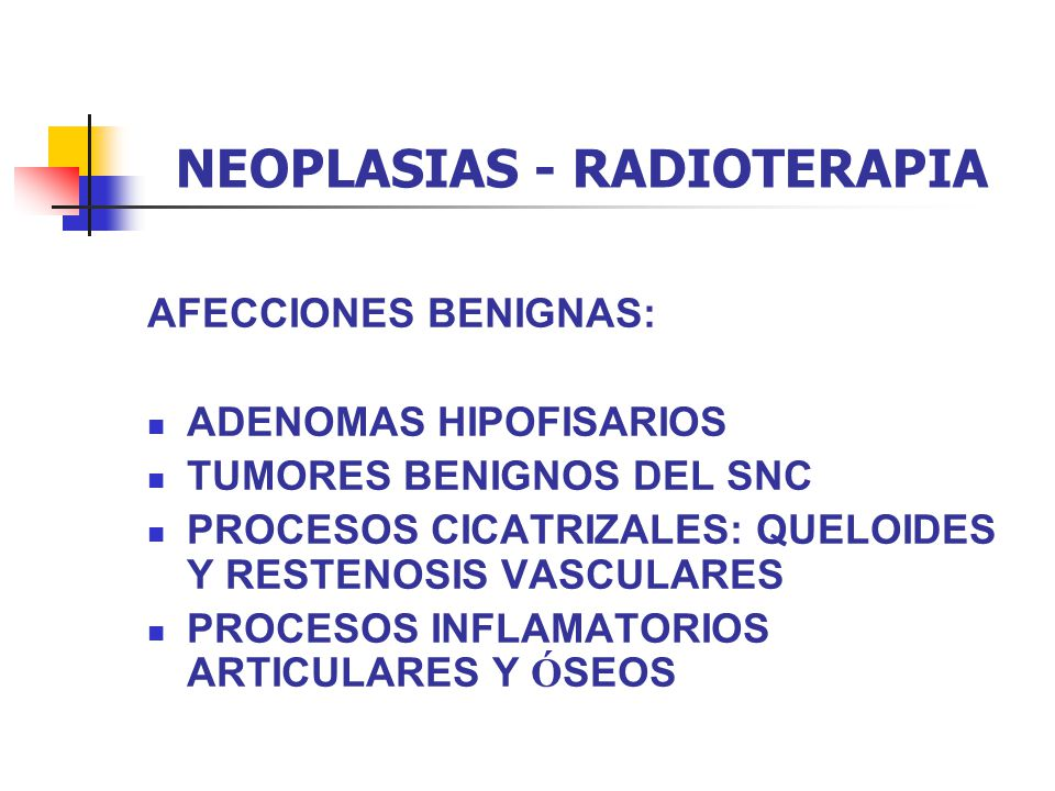 NEOPLASIAS - RADIOTERAPIA COMBINACI Ó N RT - CIRUG Í A POSTOP.