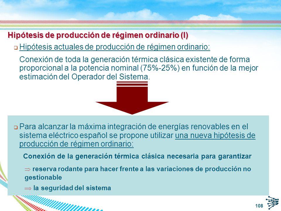 109 Hipótesis de producción de régimen ordinario (II) MWZona 1Península Total RO11.12442.981 RO / Demanda (%)9177 Hipótesis actualesHipótesis nuevas MWZona 1Península Total RO4.38021.010 RO / Demanda (%)3638