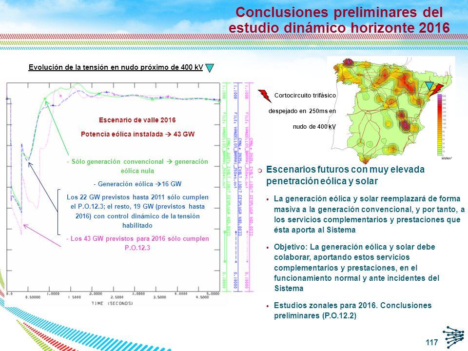 118 Conclusiones de los estudios q Tras el análisis de las simulaciones realizadas, los resultados han sido en principio admisibles, de acuerdo con los criterios de admisibilidad dinámica del P.O.13.1.