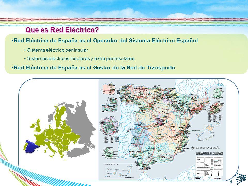 REE: Misión y principios q Operacion del sistema q Operar la red y coordinar su uso junto con el de las instalaciones de generación para asegurar la seguridad y continuidad del suministro eléctrico.