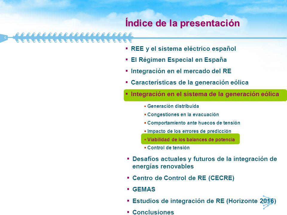 56 0 h 24 h Req_min D_min Req_max D_max MW Requerimiento para la generación gestionable (I) Demanda Producción eólica Requerimiento para la generación gestionable q Ratio Demanda = D_max/D_min q Ratio Requerimiento = Req_max/Req_min q Debido al comportamiento de la generación eólica durante los períodos punta/valle: m Ratio Requerimiento > Ratio Demanda m Pendientes más acusadas en las transiciones valle-punta