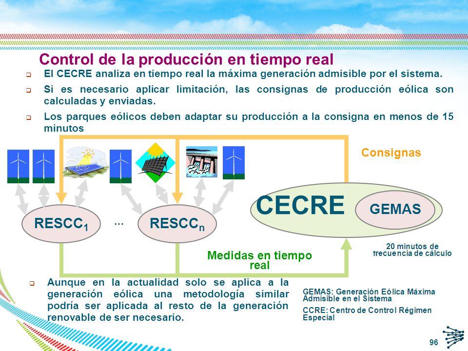 Índice de la presentación REE y el sistema eléctrico español El Régimen Especial en España Integración en el mercado del RE Características de la generación eólica Integración en el sistema de la generación eólica Desafíos actuales de la integración de energías renovables Centro de Control de RE (CECRE) GEMAS Estudios de integración de RE (Horizonte 2016) Conclusiones