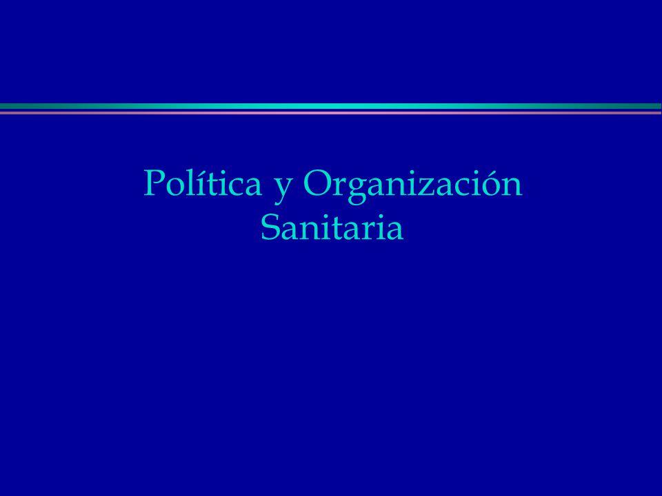 Política y Organización Sanitaria