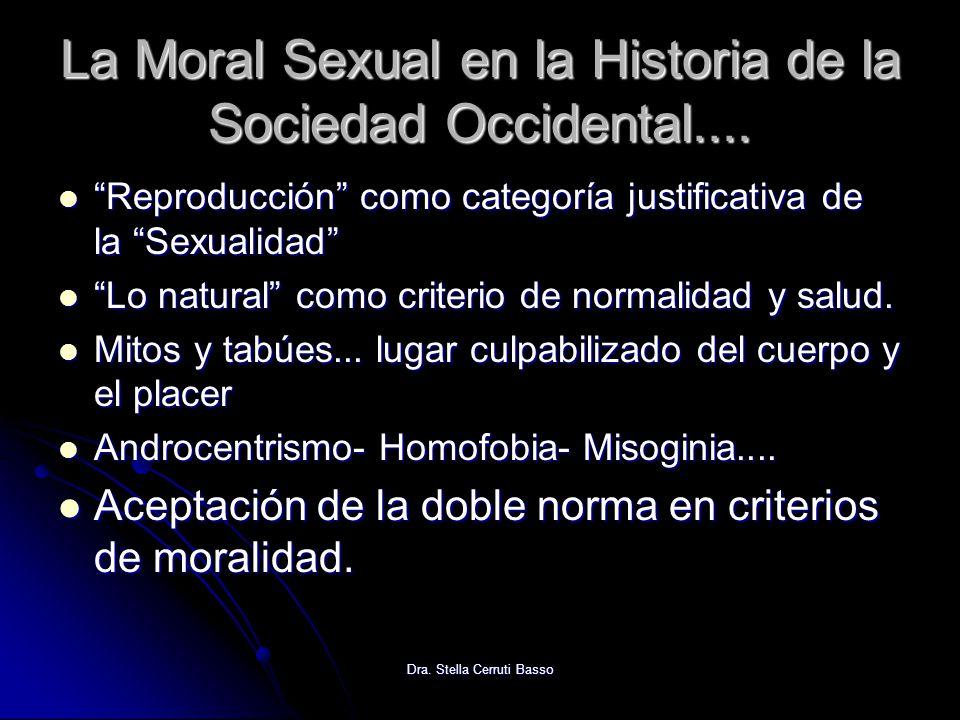 Dra. Stella Cerruti Basso La Moral Sexual en la Historia de la Sociedad Occidental.... Reproducción como categoría justificativa de la Sexualidad Repr