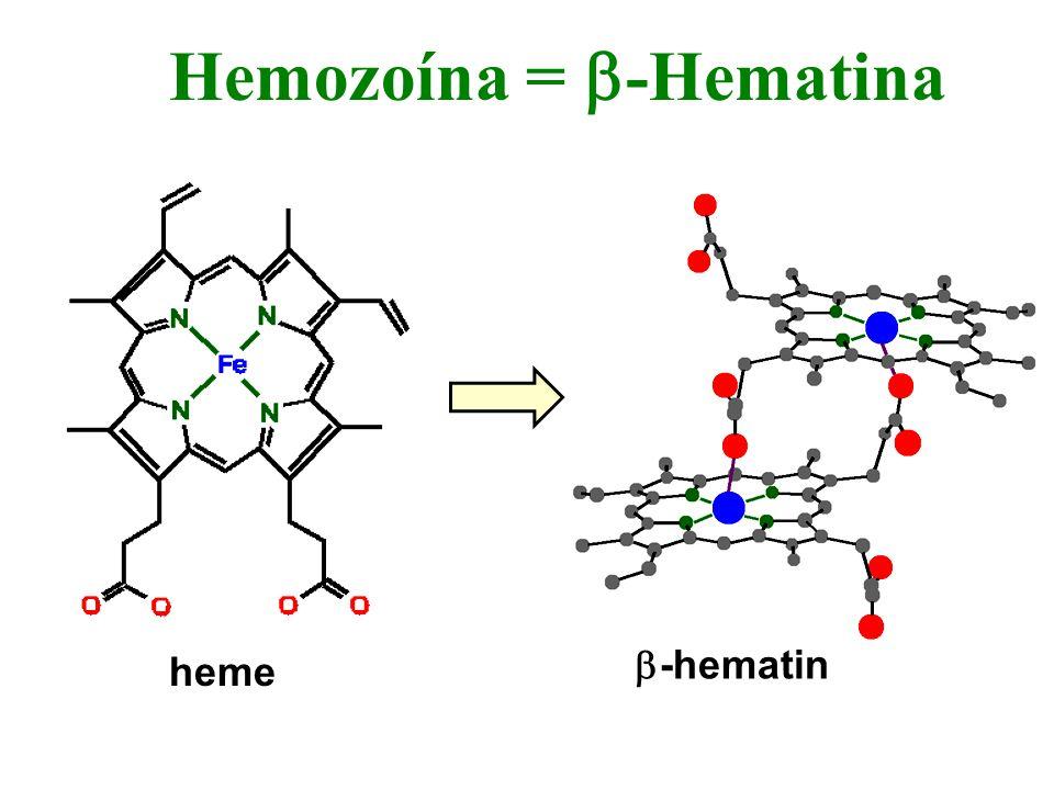 Hemozoína = -Hematina heme -hematin