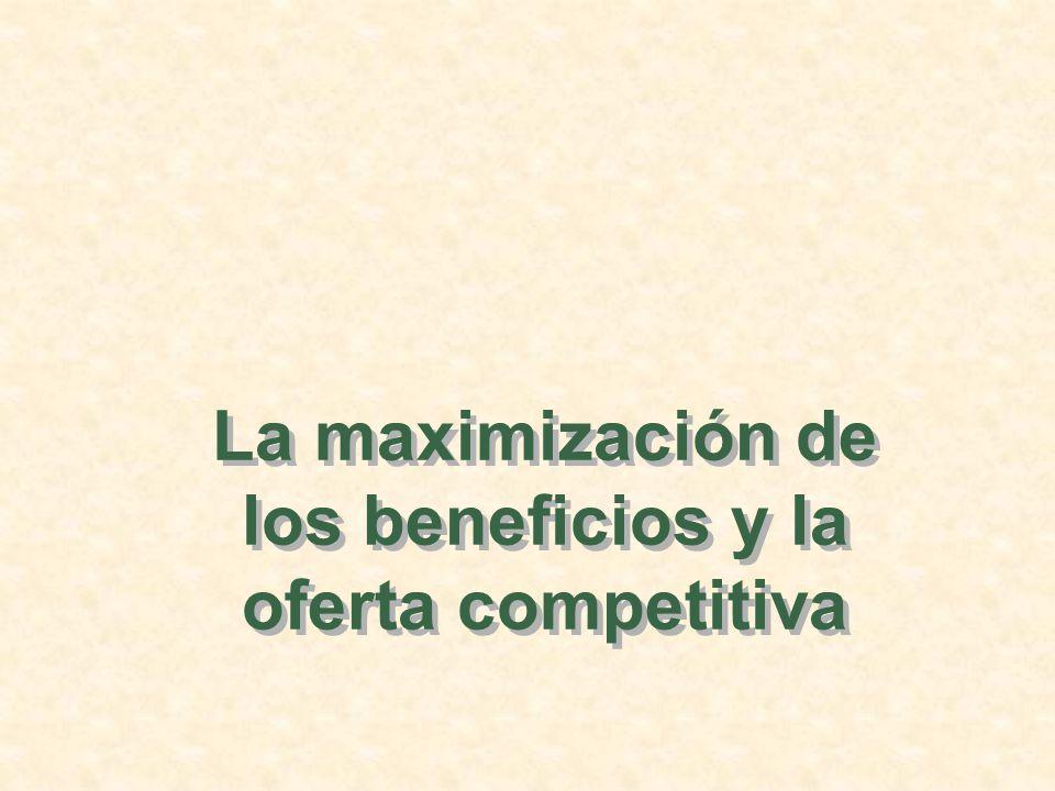 La maximización de los beneficios y la oferta competitiva