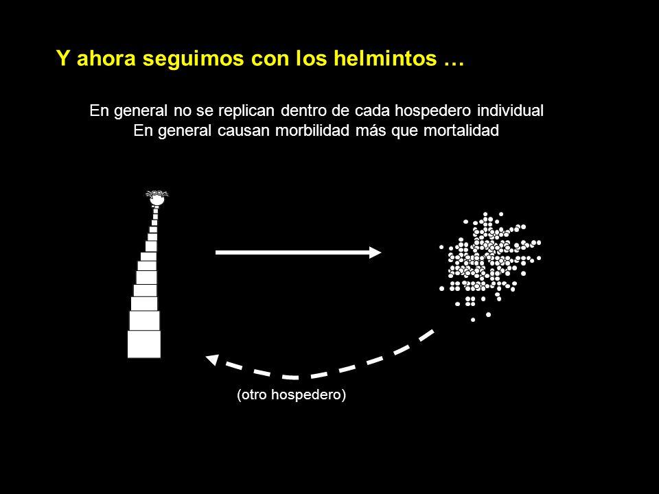 En general no se replican dentro de cada hospedero individual En general causan morbilidad más que mortalidad Y ahora seguimos con los helmintos … (ot