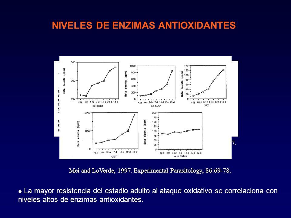 NIVELES DE ENZIMAS ANTIOXIDANTES Nare et al., 1990.
