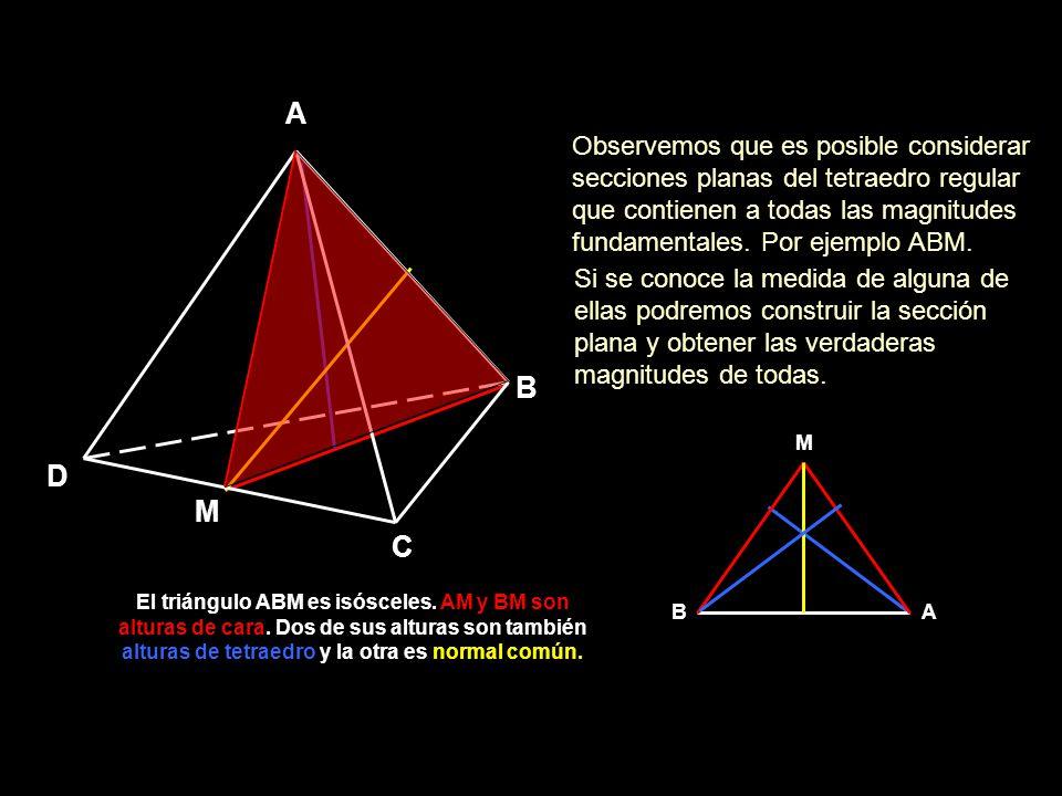 Magnitudes Fundamentales Tetraedro Veamos como proceder según el dato que nos proporcionen.