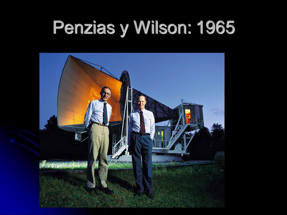 Penzias y Wilson: 1965
