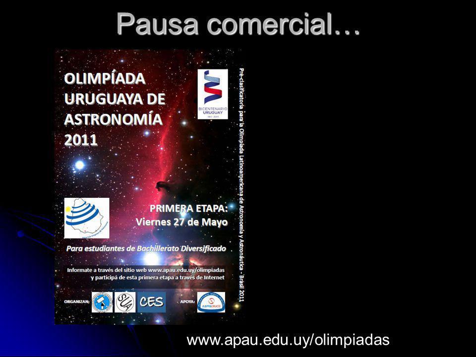 Pausa comercial… www.apau.edu.uy/olimpiadas