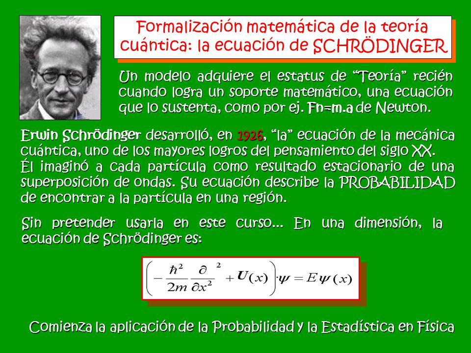 Un modelo adquiere el estatus de Teoría recién cuando logra un soporte matemático, una ecuación que lo sustenta, como por ej. Fn=m.a de Newton. Formal