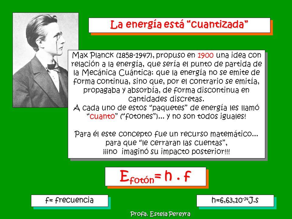Max Planck (1858-1947), propuso en 1900 una idea con relación a la energía, que sería el punto de partida de la Mecánica Cuántica: que la energía no s