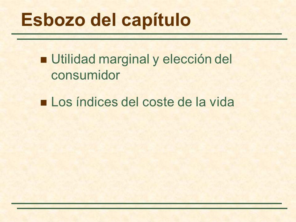 Esbozo del capítulo Utilidad marginal y elección del consumidor Los índices del coste de la vida