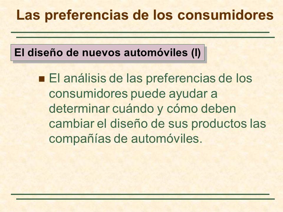 El análisis de las preferencias de los consumidores puede ayudar a determinar cuándo y cómo deben cambiar el diseño de sus productos las compañías de