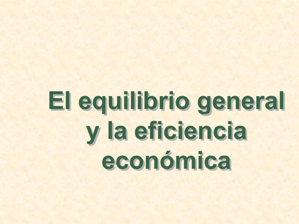 La eficiencia en la producción Observaciones: Aglutinación de la oferta y la demanda (renta y gastos).