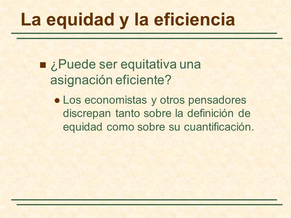 La equidad y la eficiencia ¿Puede ser equitativa una asignación eficiente.