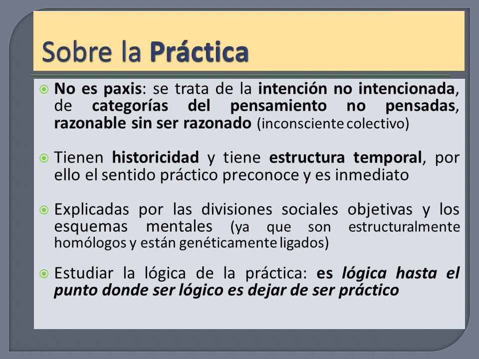 No es paxis: se trata de la intención no intencionada, de categorías del pensamiento no pensadas, razonable sin ser razonado (inconsciente colectivo)