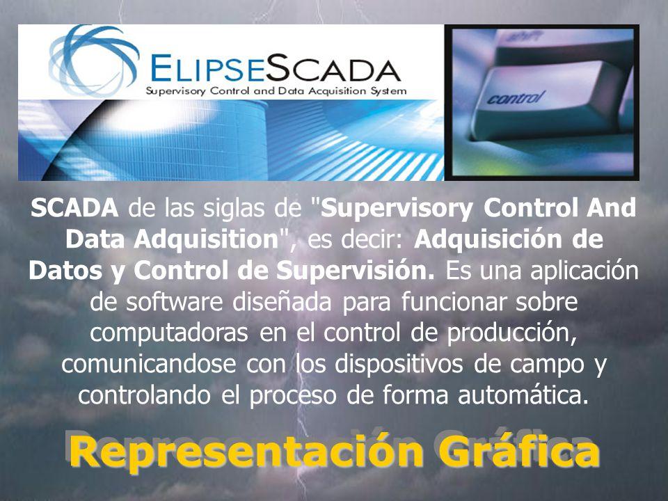 SCADA de las siglas de Supervisory Control And Data Adquisition , es decir: Adquisición de Datos y Control de Supervisión.