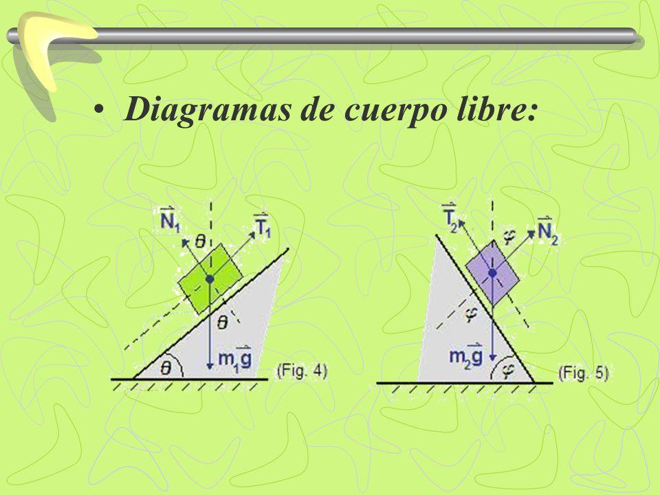 Segunda ley de Newton:.