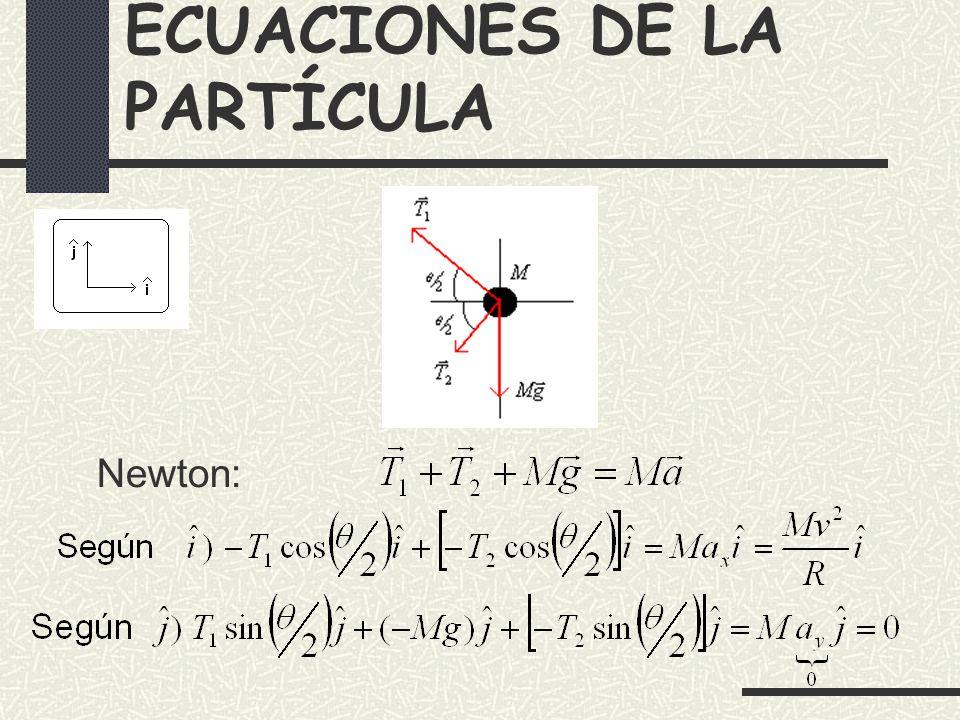 ECUACIONES DE LA PARTÍCULA Newton:
