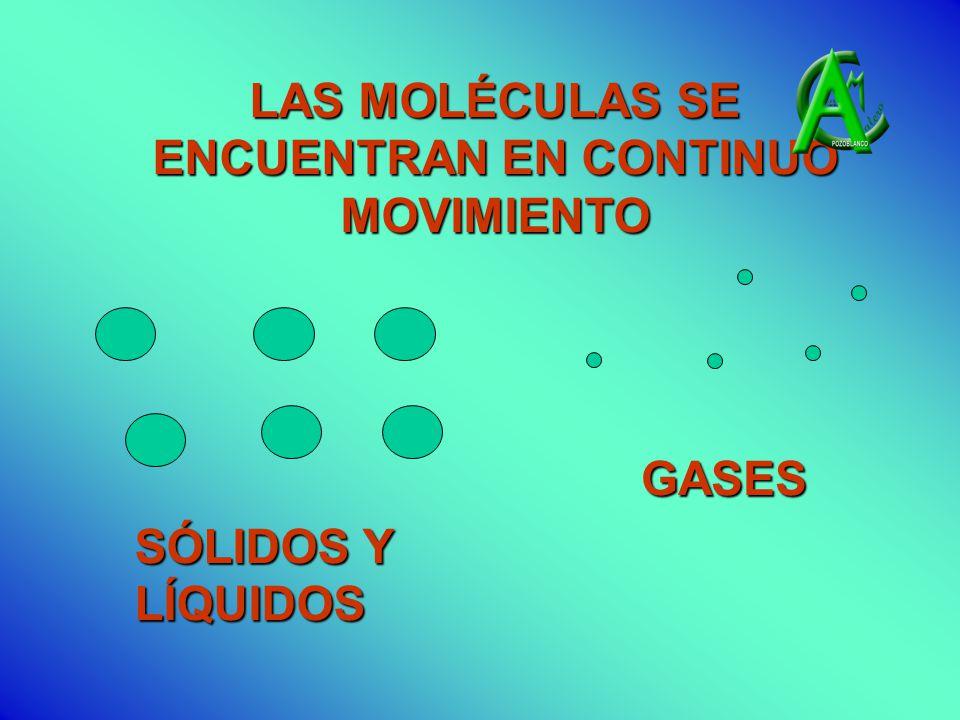 SÓLIDOS Y LÍQUIDOS GASES