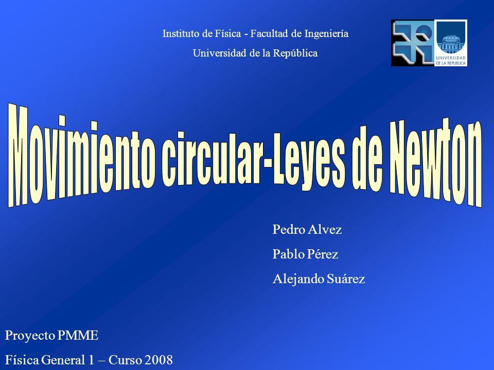 Proyecto PMME Física General 1 – Curso 2008 Pedro Alvez Pablo Pérez Alejando Suárez Instituto de Física - Facultad de Ingeniería Universidad de la República