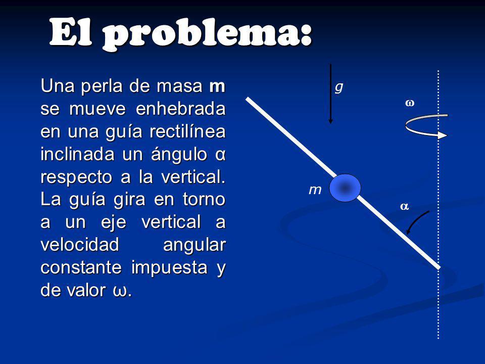 Para el caso particular de α = 45º, obtenemos: Es decir que la velocidad angular máxima es: