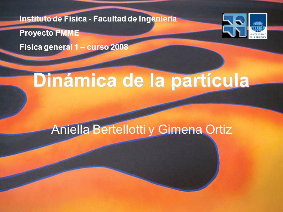 Instituto de Física - Facultad de Ingeniería Proyecto PMME Física general 1 – curso 2008 Dinámica de la partícula Aniella Bertellotti y Gimena Ortiz