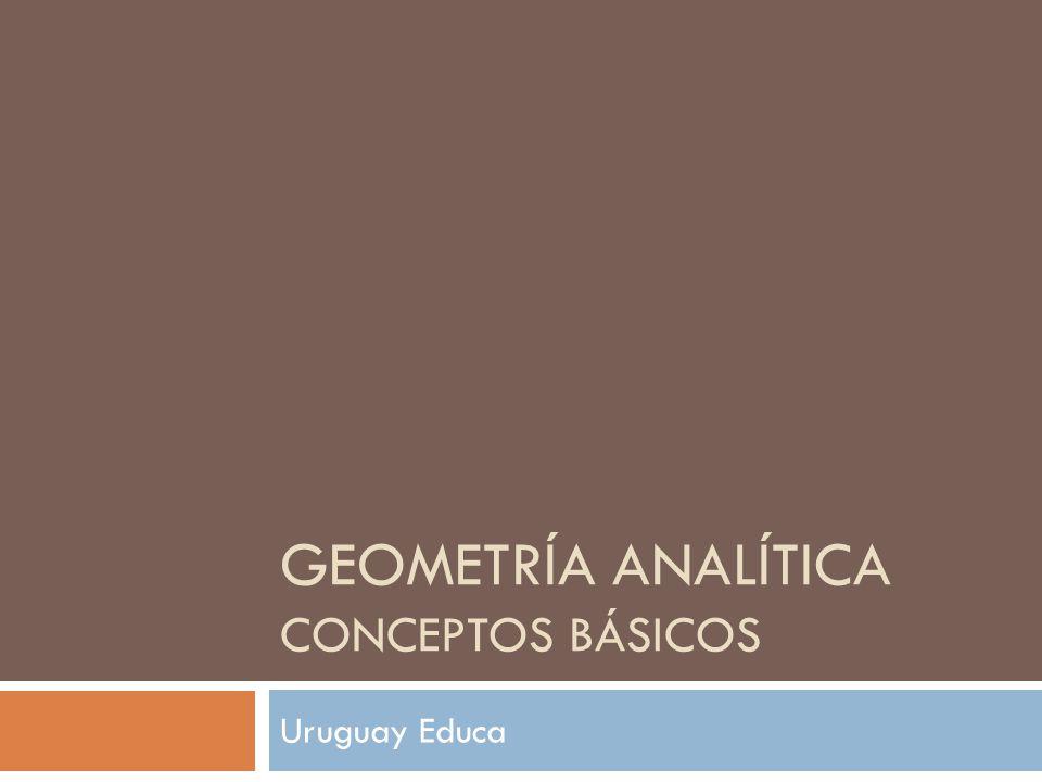 GEOMETRÍA ANALÍTICA CONCEPTOS BÁSICOS Uruguay Educa