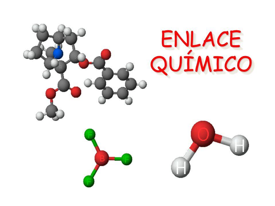 ENLACE COVALENTE APOLAR Estos electrones se comparten Par de electrones compartidos ENLACE COVALENTE