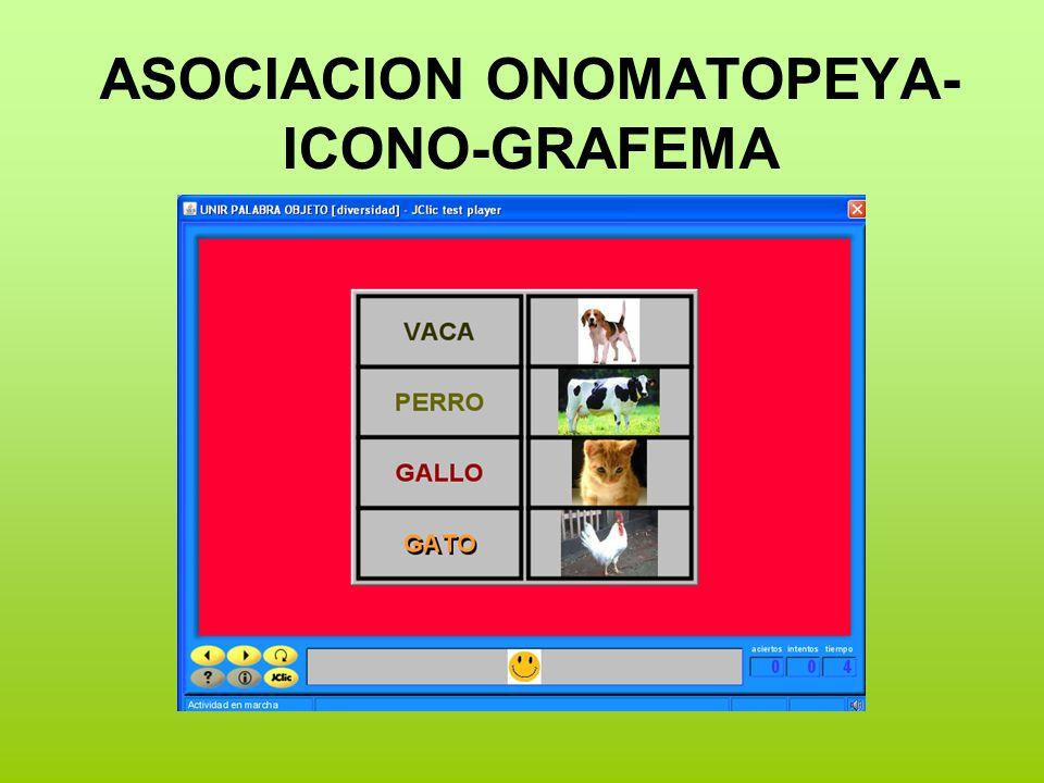 ASOCIACION ONOMATOPEYA- ICONO-GRAFEMA
