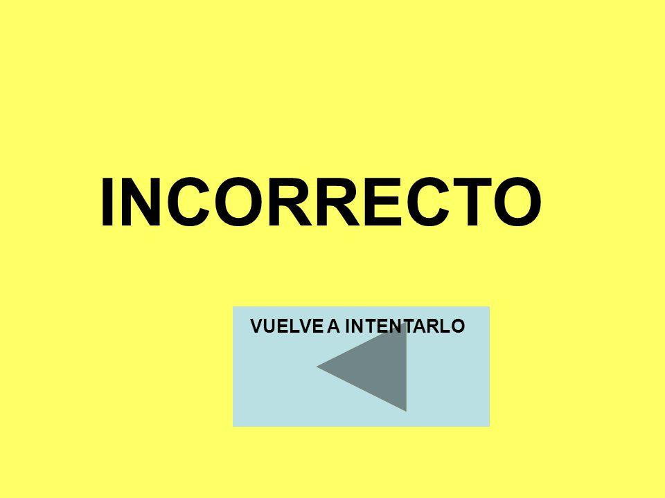 INCORRECTO VUELVE A INTENTARLO