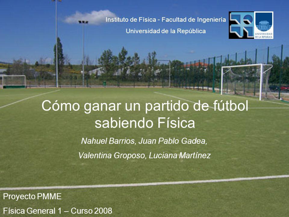 Proyecto PMME Física General 1 – Curso 2008 Nahuel Barrios, Juan Pablo Gadea, Valentina Groposo, Luciana Martínez Instituto de Física - Facultad de In