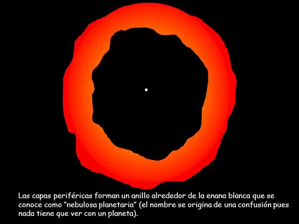 La enana blanca, es una estrella tan pequeña como la Tierra, pero de mucha densidad; tanta que un trozo del tamaño de un terrón de azúcar, pesaría ¡miles de kilos.