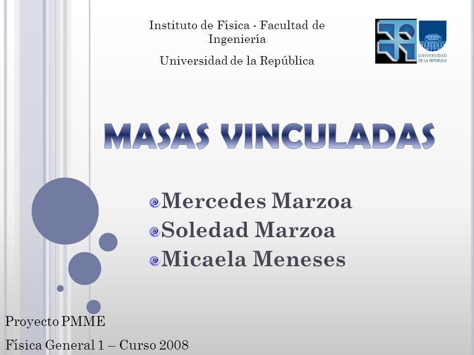 Mercedes Marzoa Soledad Marzoa Micaela Meneses Instituto de Física - Facultad de Ingeniería Universidad de la República Proyecto PMME Física General 1