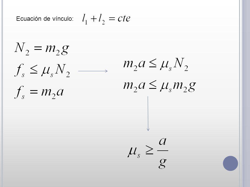 Ecuación de vínculo: