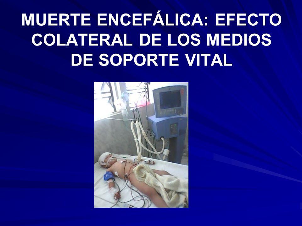MUERTE ENCEFÁLICA: EFECTO COLATERAL DE LOS MEDIOS DE SOPORTE VITAL