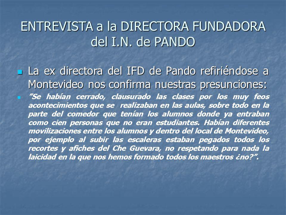 ENTREVISTA a la DIRECTORA FUNDADORA del I.N.
