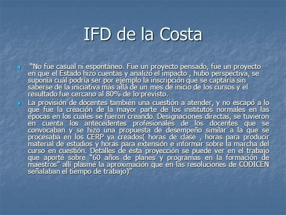 IFD de la Costa No fue casual ni espontáneo.