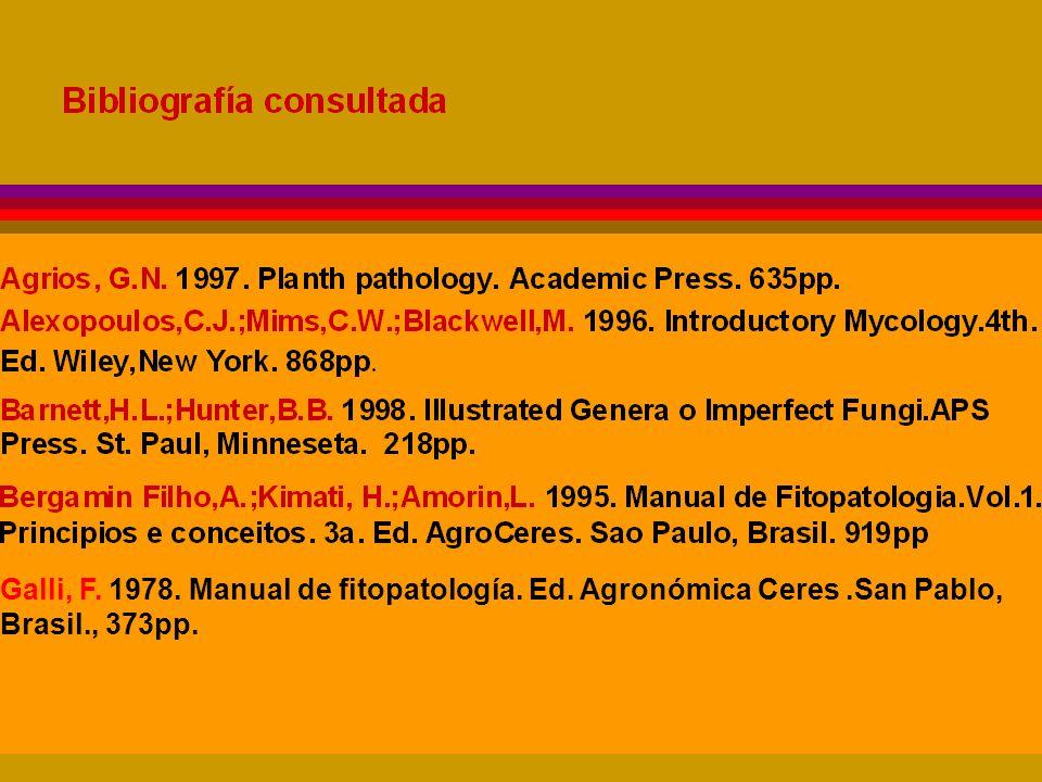 Galli, F. 1978. Manual de fitopatología. Ed. Agronómica Ceres.San Pablo, Brasil., 373pp.