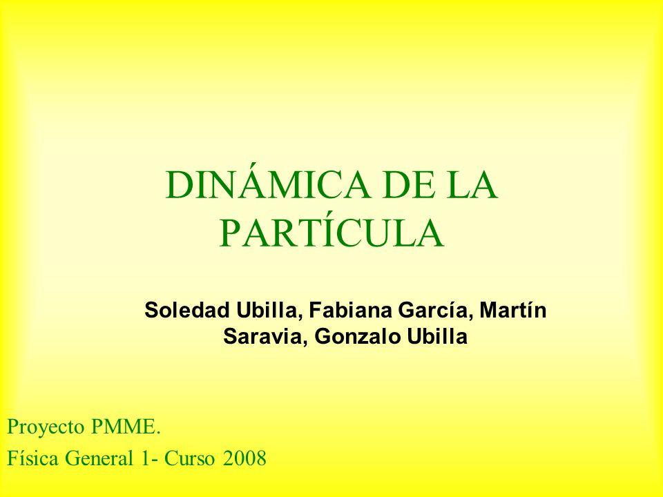 DINÁMICA DE LA PARTÍCULA Proyecto PMME.