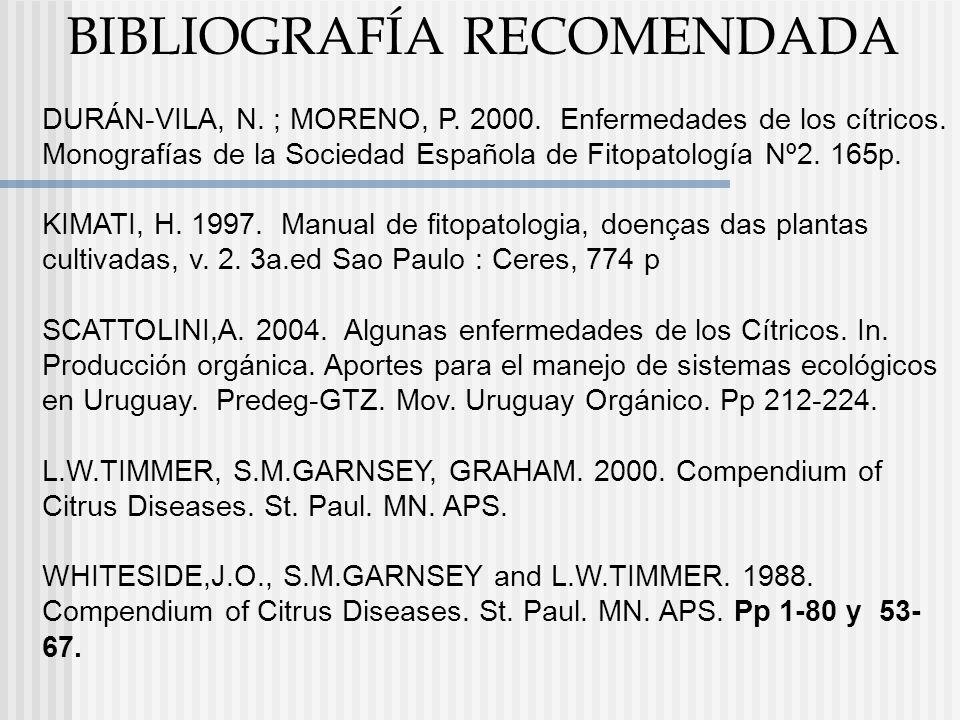 Manejo integrado de enfermedades de Citrus Agueda Scattolini 29 de octubre de 2007