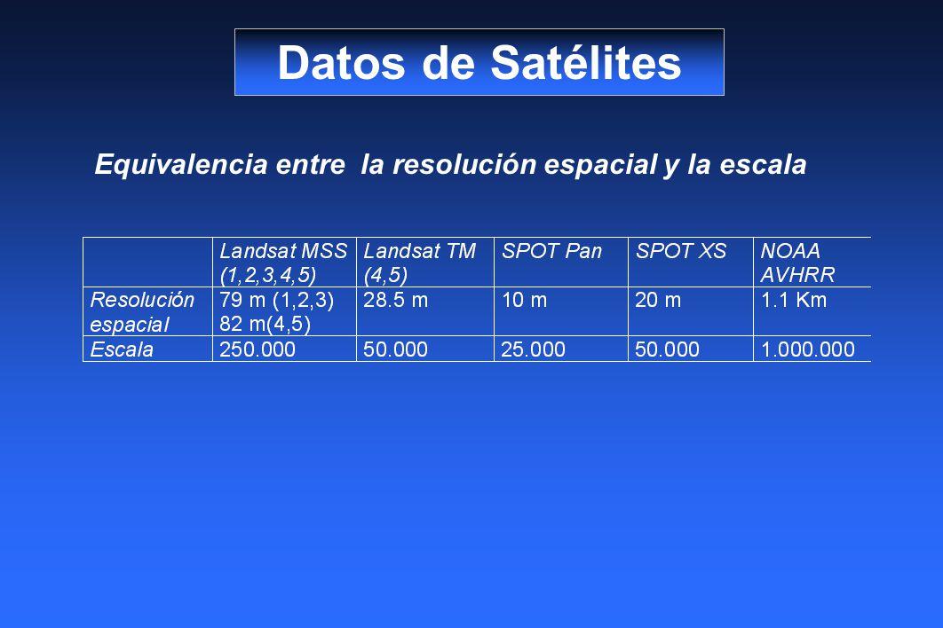 Equivalencia entre la resolución espacial y la escala